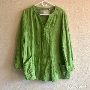 Soft Surroundings Lime Green Tunic w/Pockets